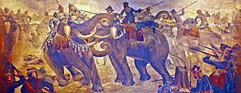 Elephant Fight in the Siamese Burmese Wars, Ayutthaya