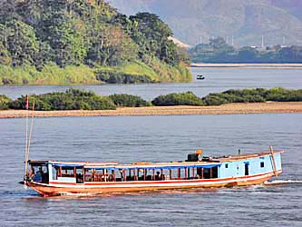 River Boat on the Mekong River at Chiang Khong