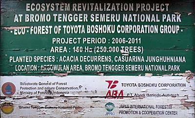 Toyota sponsors the National Park