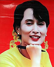 'A Poster of Aung San Su Kyi' by Asienreisender