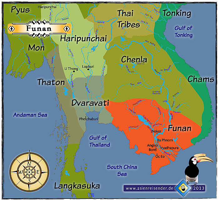Map of Funan and other Ancient Civilizations of Southeast Asia by Asienreisender