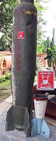 Unexploded Ordnance in Laos by Asienreisender