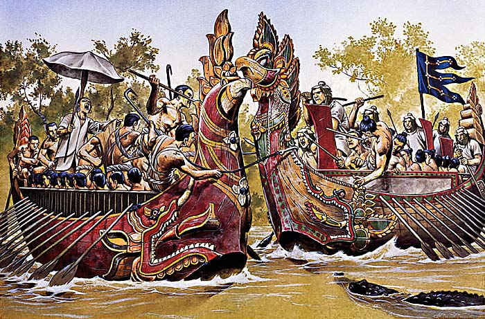Khmer Cham Naval Battle at 1181 CE