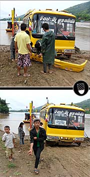 The Mekong Ferry between Ban Pak Lai and Sanakham by Asienreisender