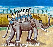 Temple Painting with Elephant by Asienreisender