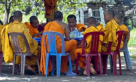 A Group of Khmer Monks by Asienreisender