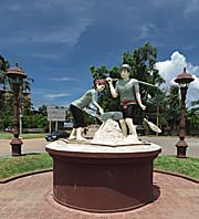 Saline Workers Monument in Kampot by Asienreisender