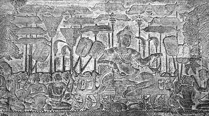 Fresco of Suryavarman II at Angkor Wat