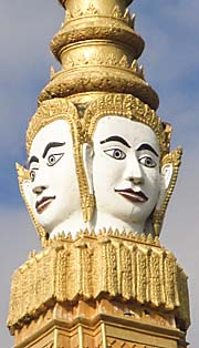 'Boddhisattva Faces at the Vihara of the Royal Palace in Phnom Penh' by Asienreisender