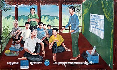 'Schoolclass in the Countryside of Cambodia' by Asienreisender