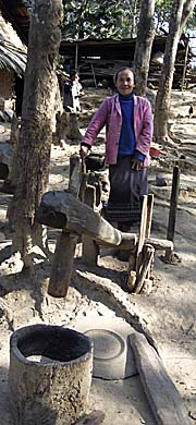 A Village Woman with a Mortar by Asienreisender