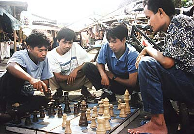 'Indonesian People playing Chess in Jakarta' by Asienreisender