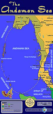 Thumbnail 'Map of the Andaman Sea' by Asienreisender