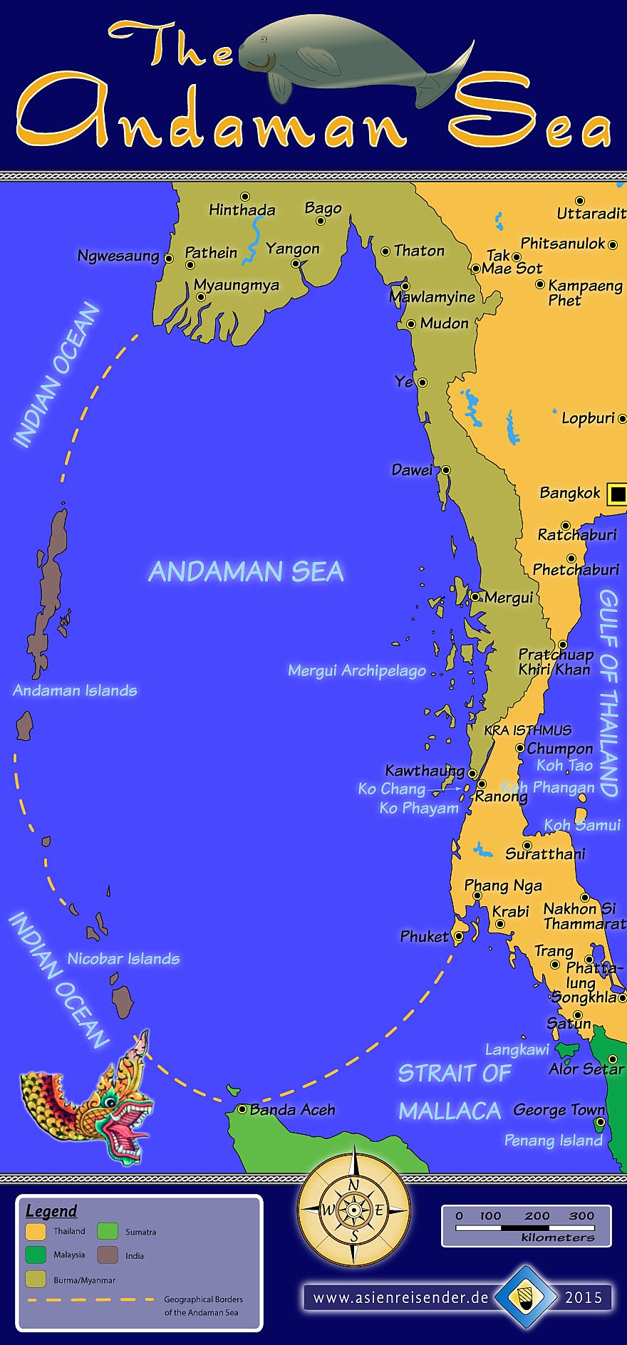'Interactive Map of the Andaman Sea' by Asienreisender