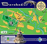 Icon Map of Borobodur by Asienreisender