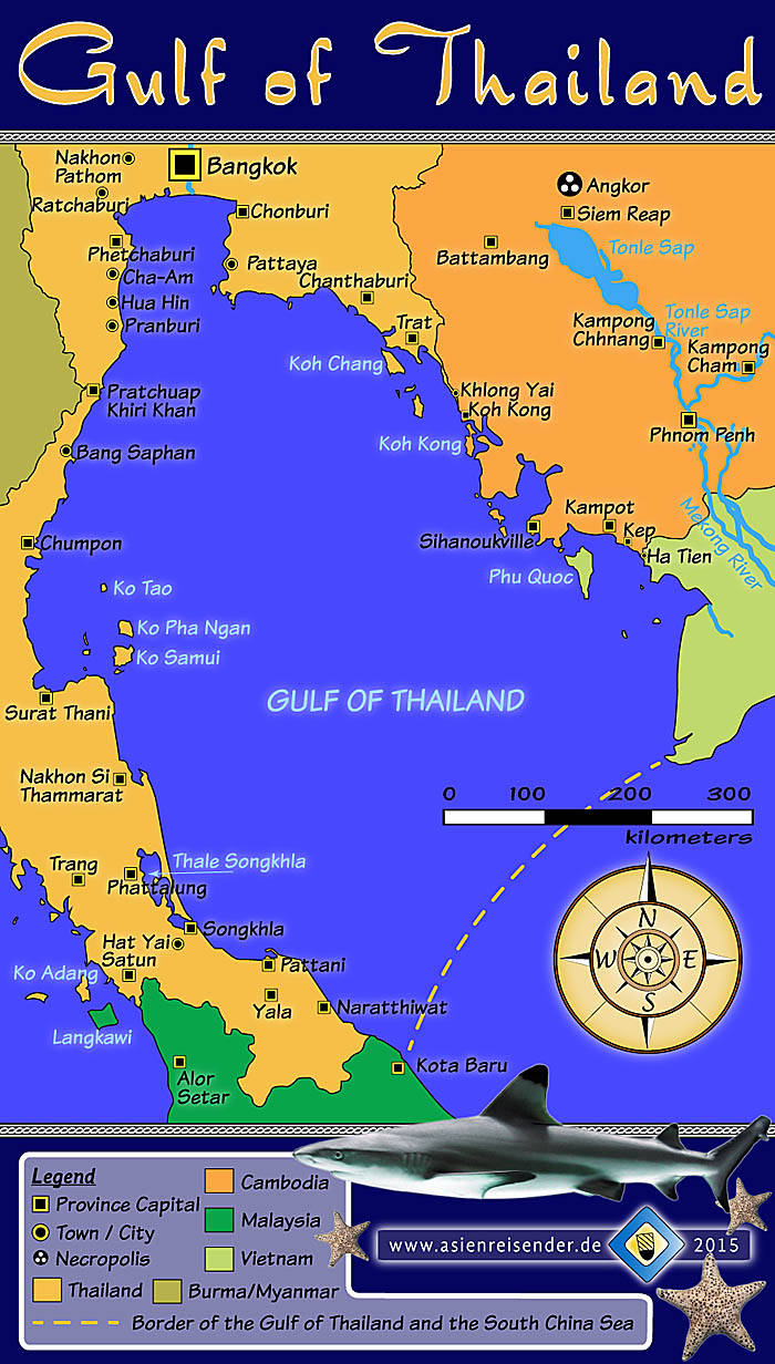 'Map of the Gulf of Thailand' by Asienreisender