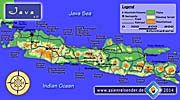 Map of Java by Asienreisender