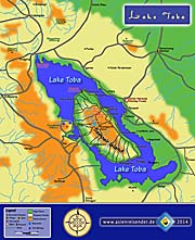 Map of Lake Toba by Asienreisender