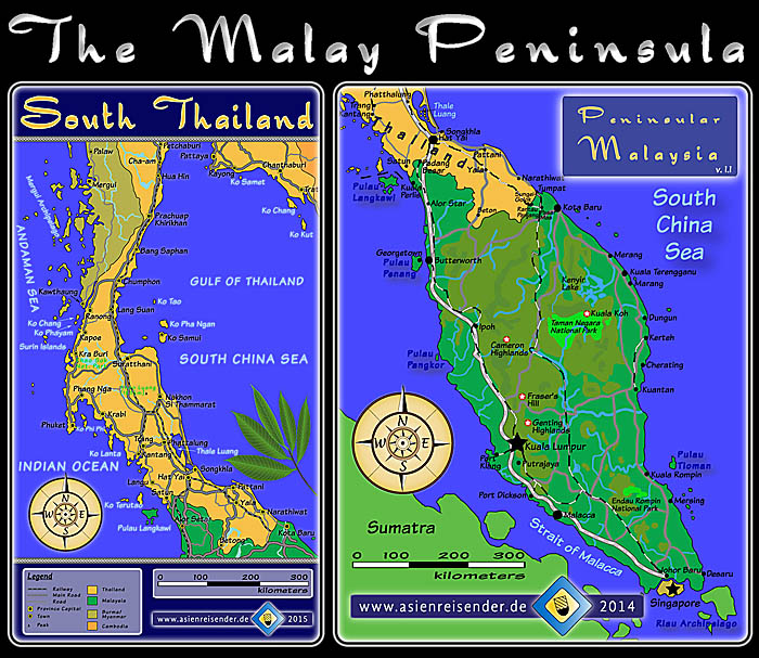 'Maps Malay Peninsula' by Asienreisender