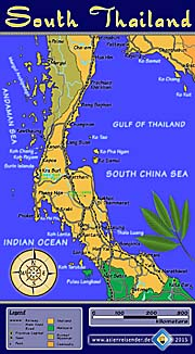 Thumbnail 'Interactive Map of South Thailand' by Asienreisender