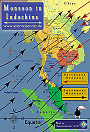 'Map of the Monsoon in Indochina' by Asienreisender