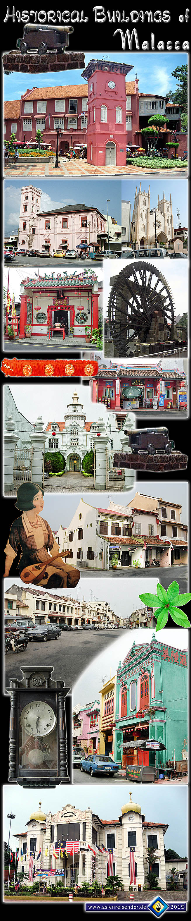 Photocomposition 'Historical Buildings in Malacca' by Asienreisender
