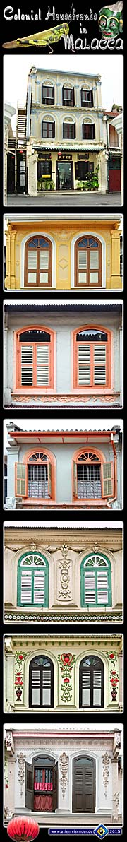 Thumbnail 'Photocomposition Colonial Housefronts in Malacca' by Asienreisender