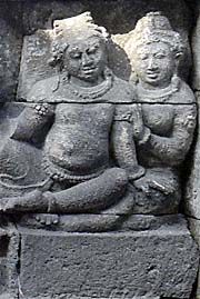 Two People on a kind of Party | Borobodur Relief by Asienreisender