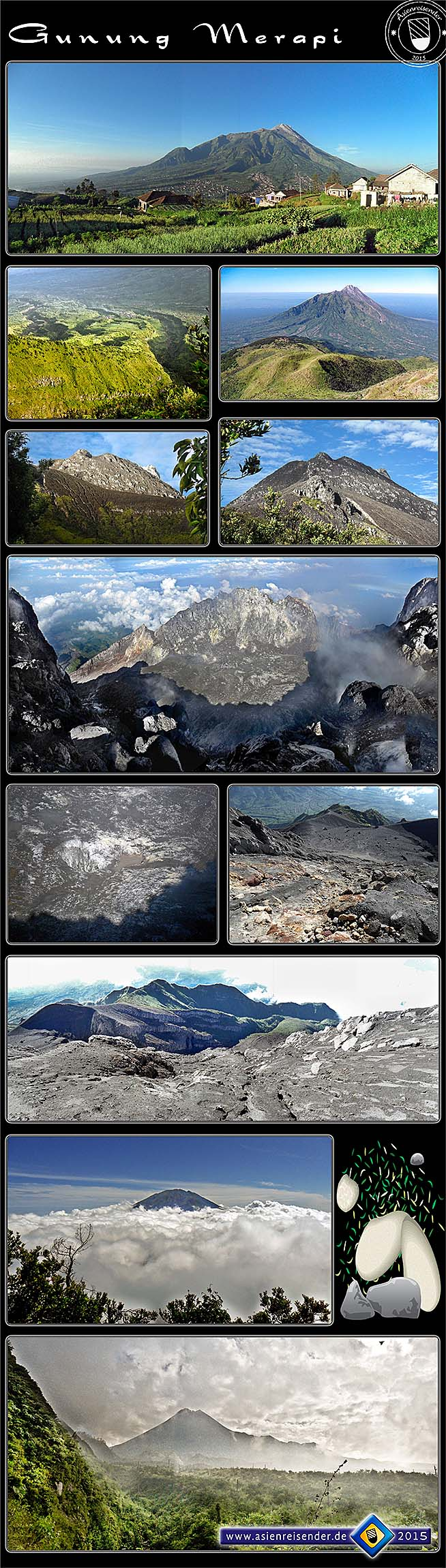 'Impressions from Gunung / Mount Merapi in a Photocomposition' by Asienreisender