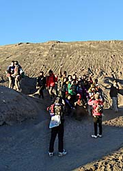 'Javanese Tourists at the Foot of Mount Bromo' by Asienreisender