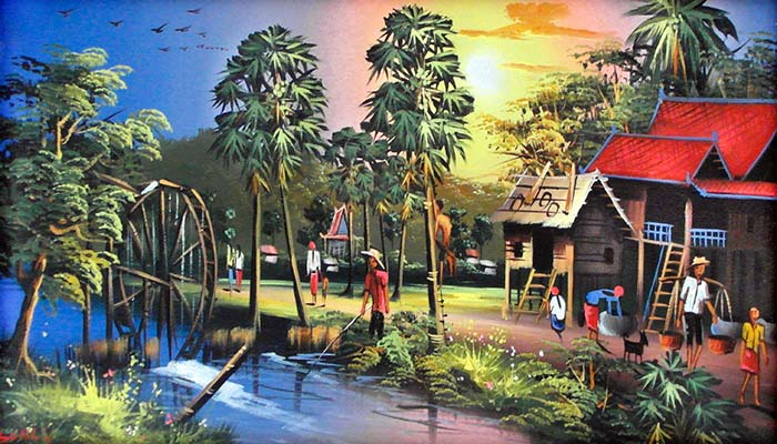 'Painting of the Rural Life as it is in Kampot' by Asienreisender
