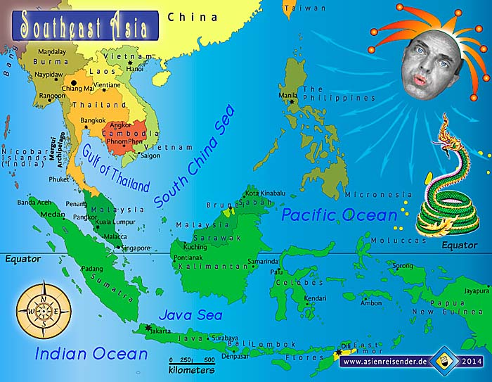 Map of Southeast Asia by Asienreisender