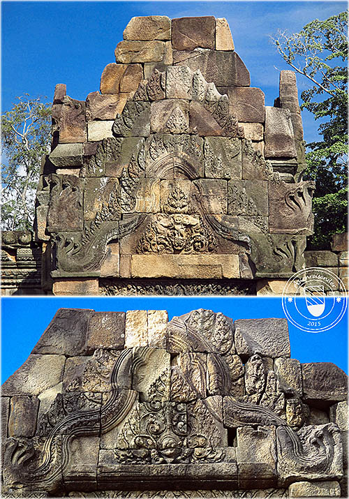 'Two Gopura's Gables at Prasat Muang Tam' by Asienreisender