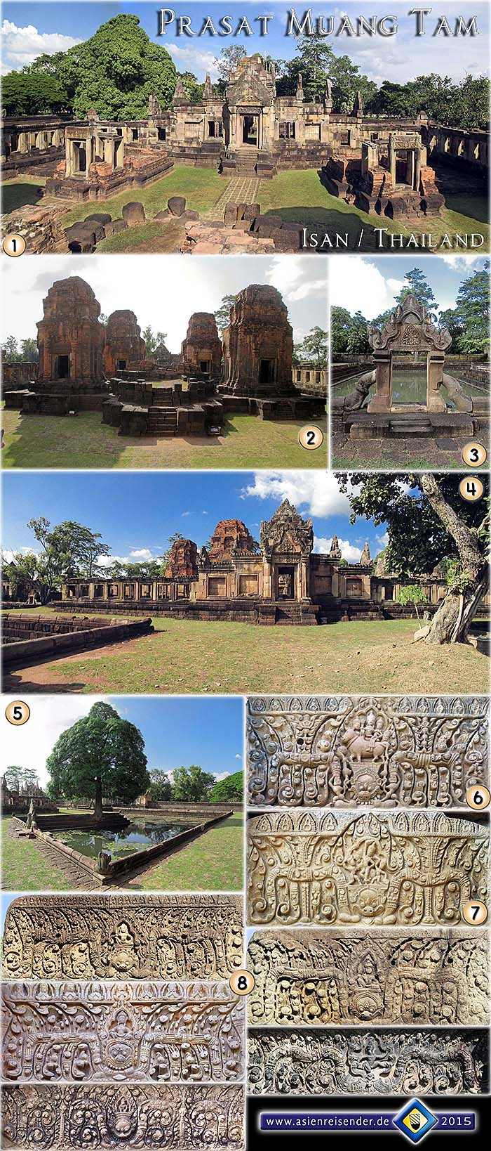Photocomposition 'Prasat Muang Tam' by Asienreisender