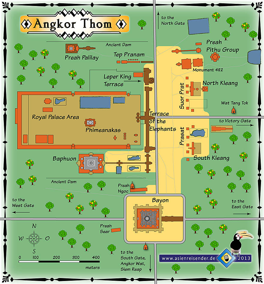 'Interactive Map of Angkor Thom' by Asienreisender