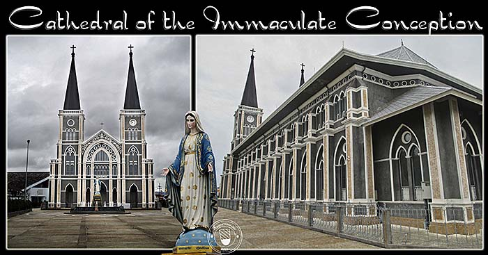 'Photocomposition of the 'Cathedral of the Immaculate Conception in Chanthaburi' by Asienreisender