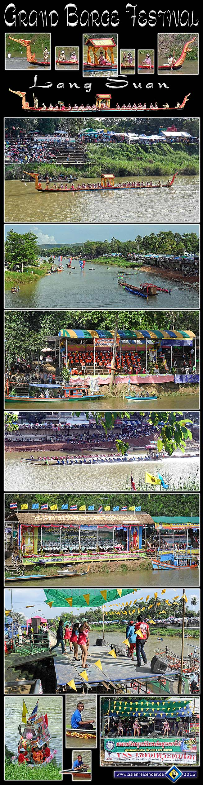 Photocomposition 'Barge Festival in Lang Suan 2012' by Asienreisender