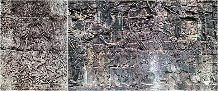 'Bas Reliefs of the Bayon' by Asienreisender