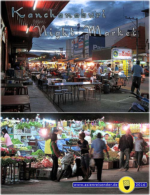 'Kanchanaburi Fresh Market and Night Market' by Asienreisender