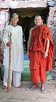 'A Hindu and a Buddhist Monk on Phnom Bayang' by Asienreisender