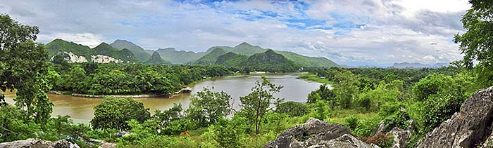 'Landscapes around the River Kwai in Kanchanaburi Province' by Asienreisender