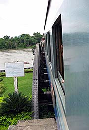 'A Train, Passing over the Bridge on the River Kwai' by Asienreisender