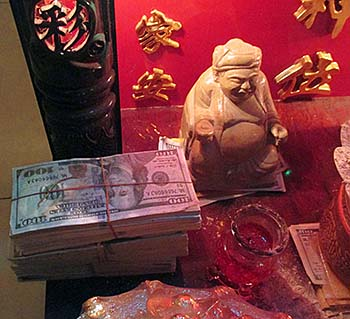 'A Chinese Shrine with Money' by Asienreisender