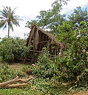 'Khmer Damaging a Hut' by Asienreisender