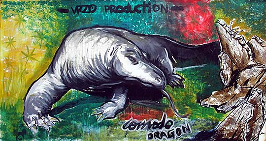 'Painting of a Komodo Dragon | Dusit Zoo | Bangkok' by Asienreisender