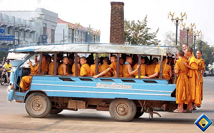 'A Busload of Thai Monks' by Asienreisender