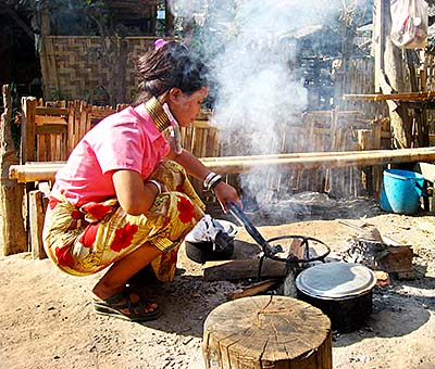 'A Kayan Woman, Cooking in the Village' by Asienreisender