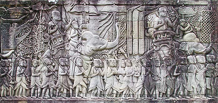 'The Army of Angkor | Bayon, Bas Relief' by Asienreisender