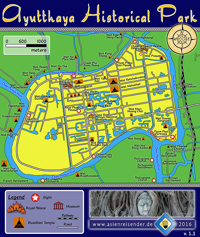 'Map Ayutthaya Historical Park' by Asienreisender
