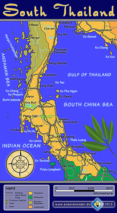 'Map of South Thailand' by Asienreisender